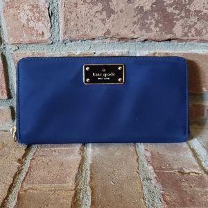 Kate Spade Wilson Road Neda Blue Wallet